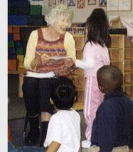 Bookworms volunteer with preschool children