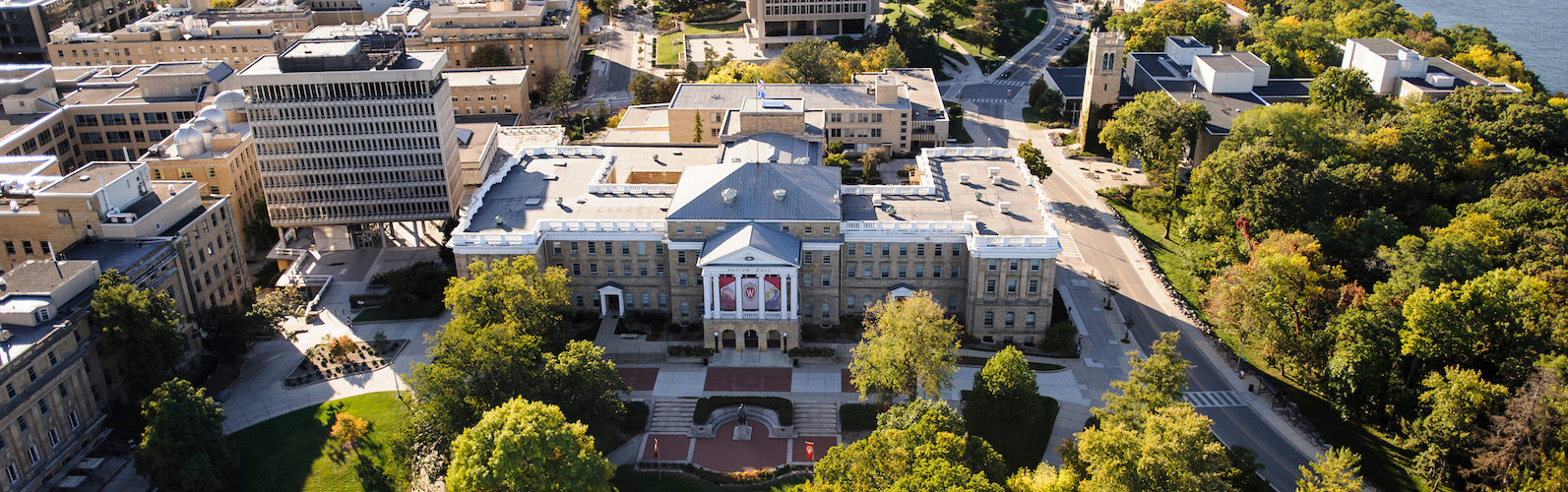 Aerial view of Bascom Hall